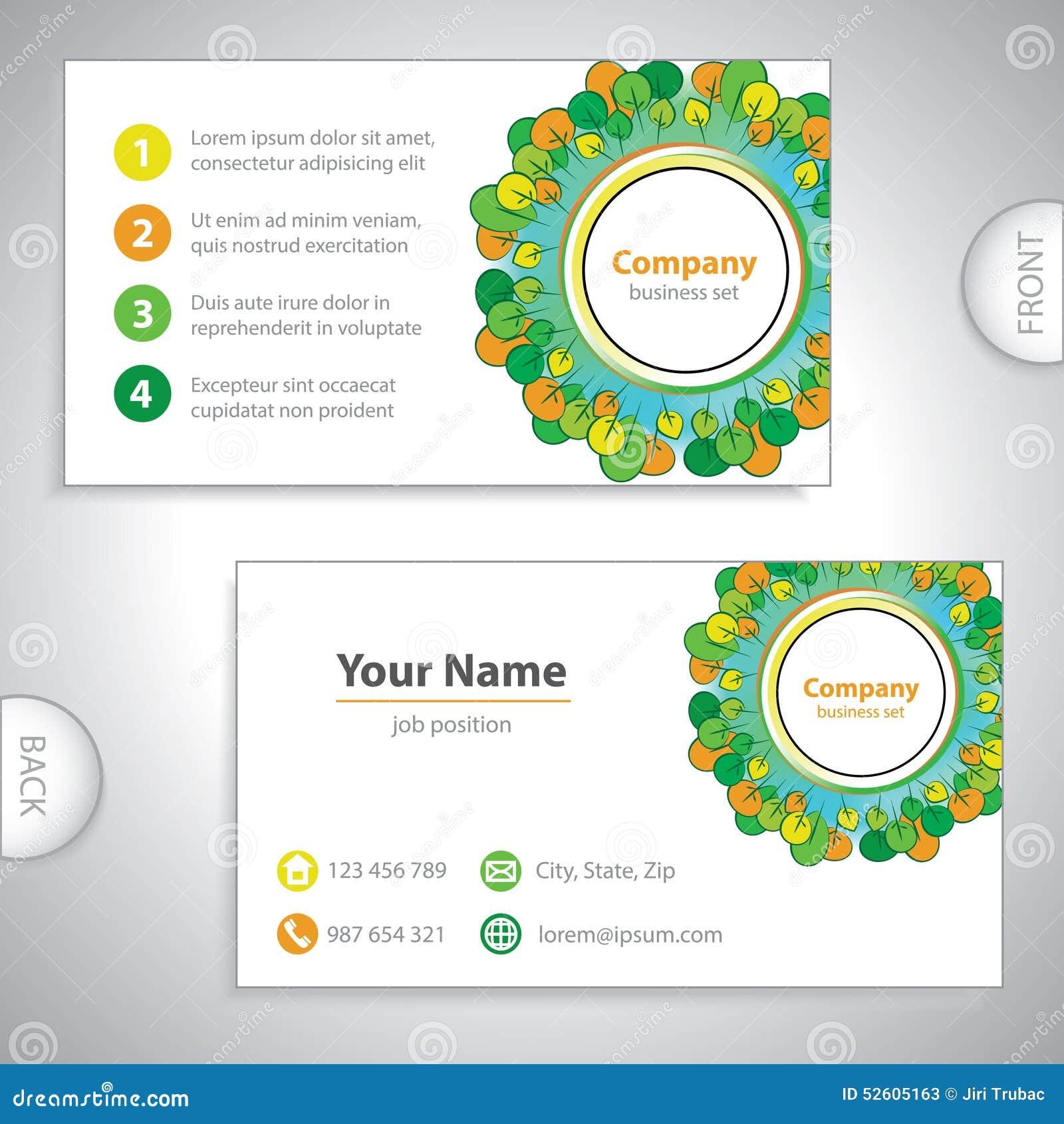 Download Le VE Vert Et Orange De Carte Visite Professionnelle