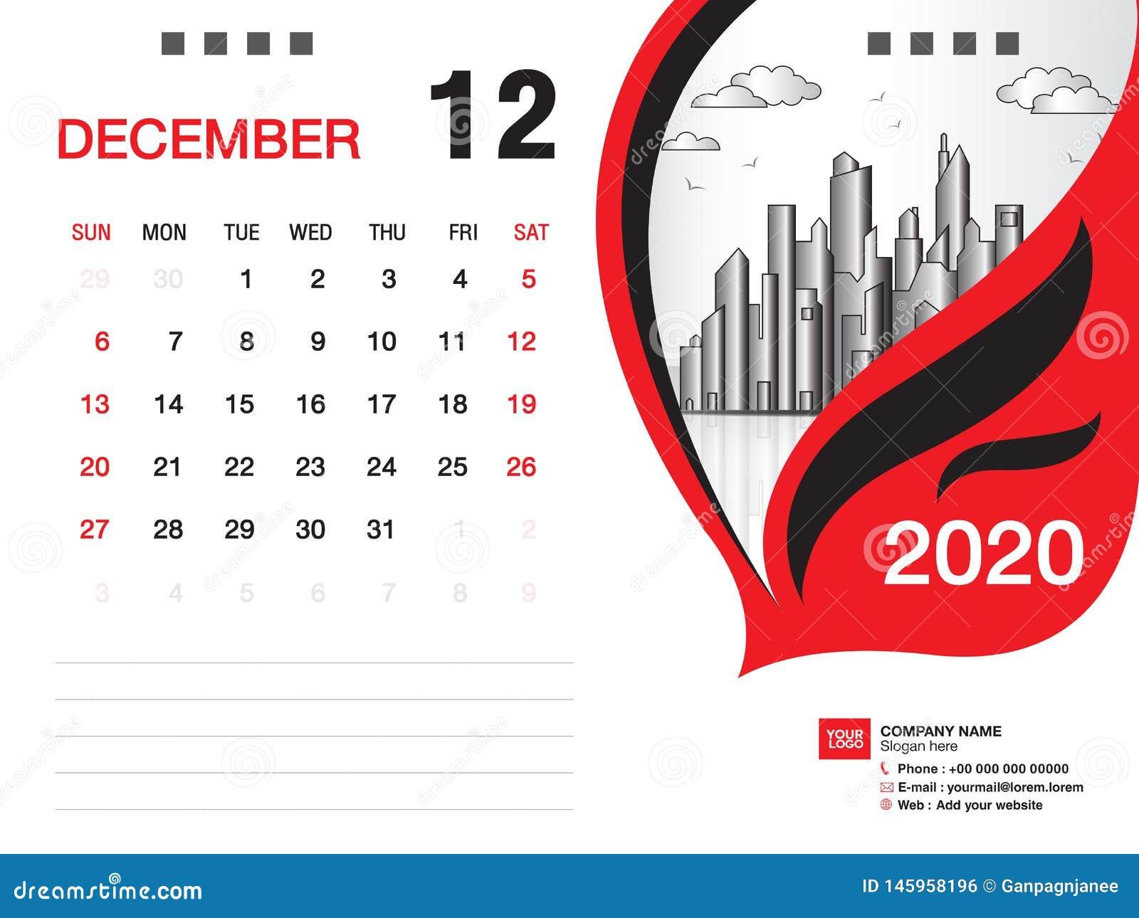 Calendrier De Decembre 2020.Le Vecteur 2020 Decembre 2020 Mois Disposition D Affaires