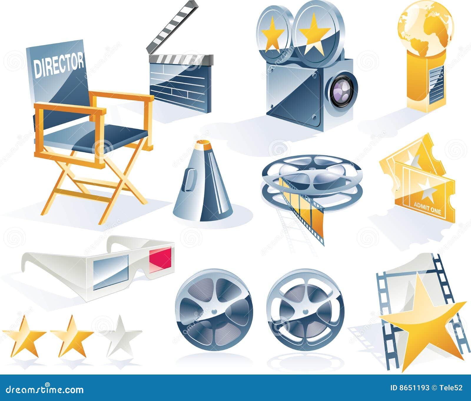 Le vecteur a détaillé le positionnement de graphisme de film