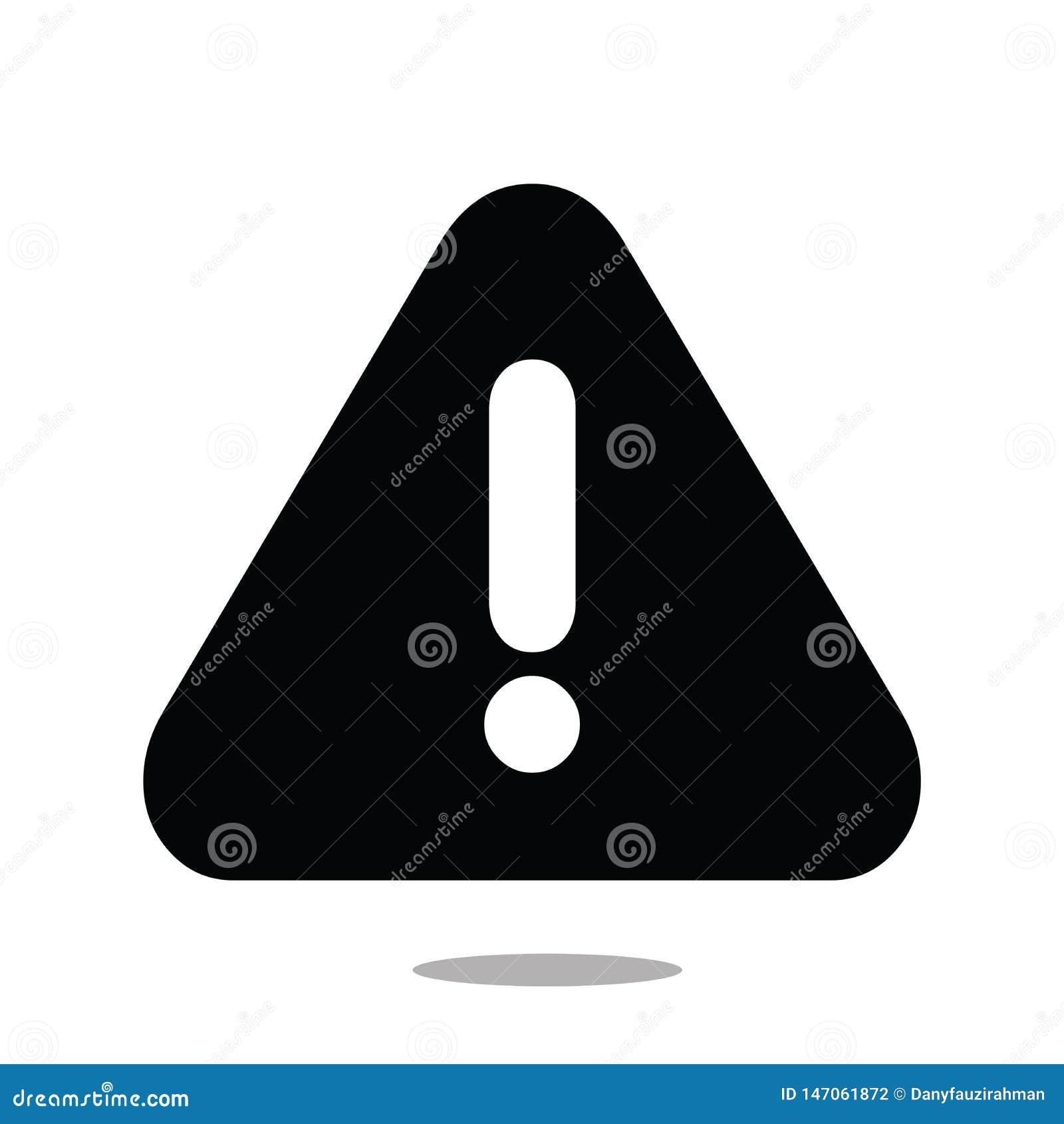 Le vecteur d icône d attention a isolé background-05 blanc