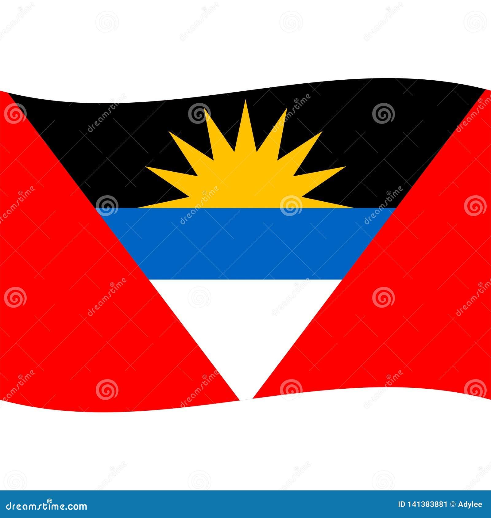 Le vecteur de drapeau de l Antigua Barbuda a isolé 2