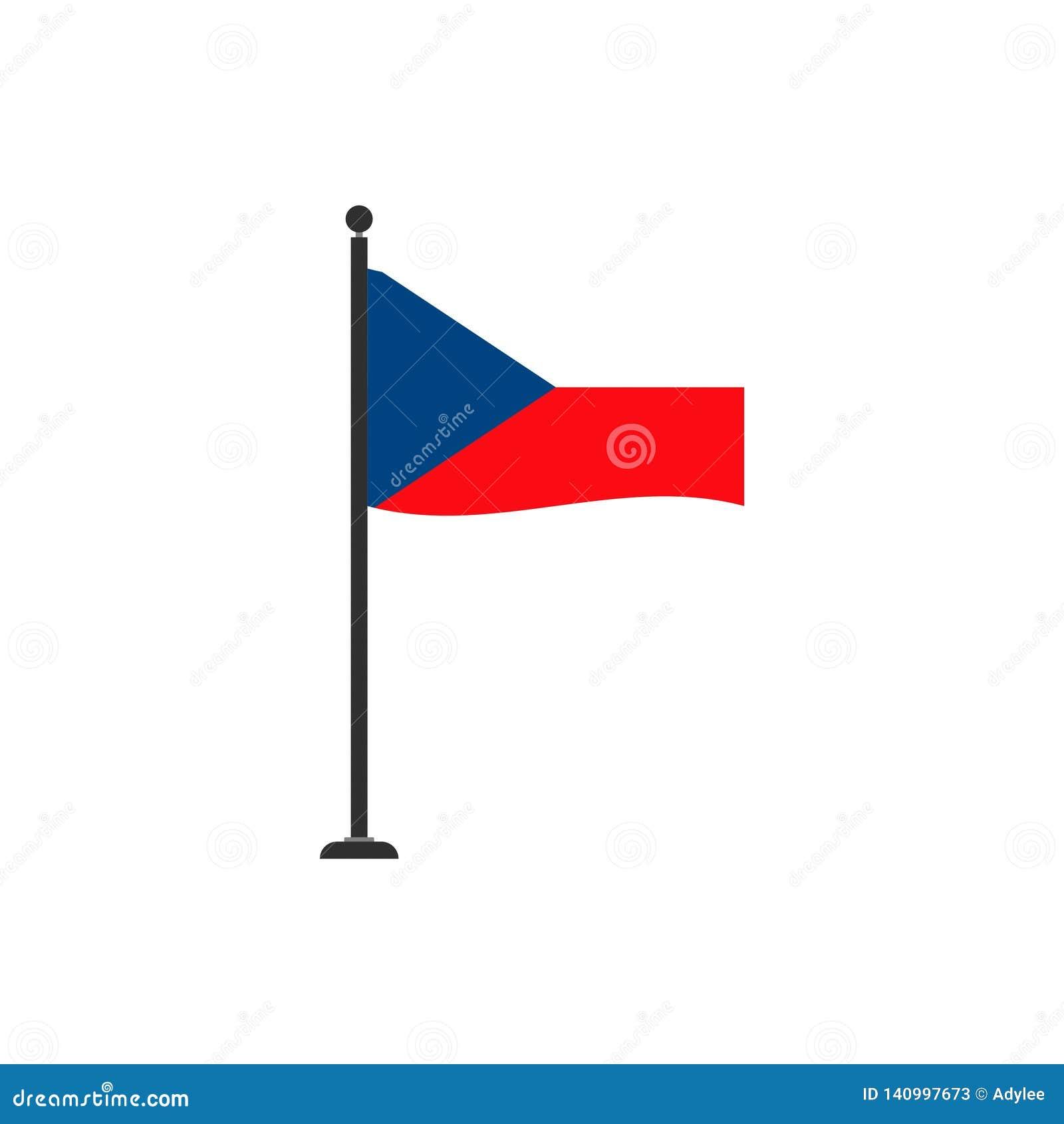 Le vecteur de drapeau de République Tchèque a isolé 4