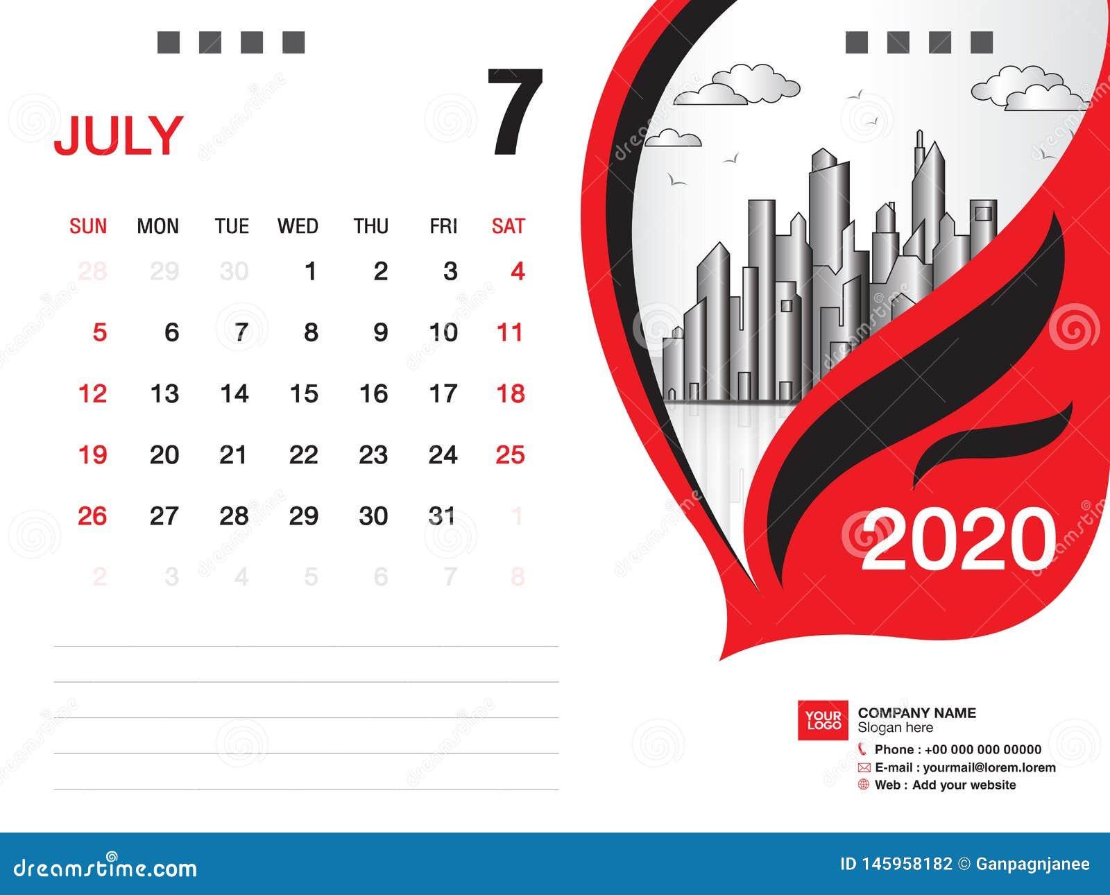 Calendrier Juillet2020.Le Vecteur 2020 Juillet 2020 Mois Disposition D Affaires