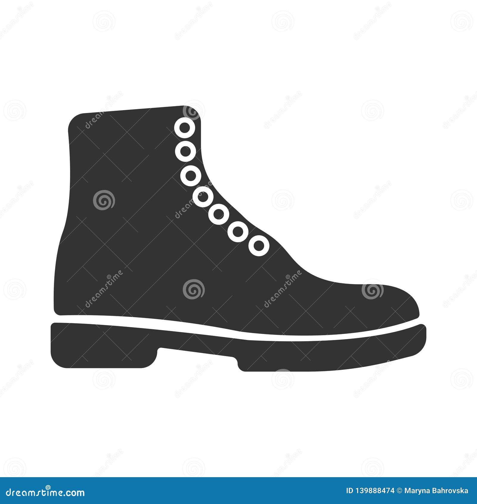 Le vecteur noir simple rejette l icône Tourisme de concept, magasin, magasin Hausse de l icône de botte, conception d illustratio