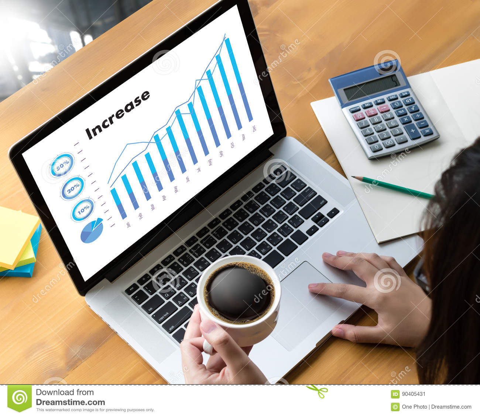 Le vendite affare dei grafici e di molti grafici aumentano le parti Co del reddito