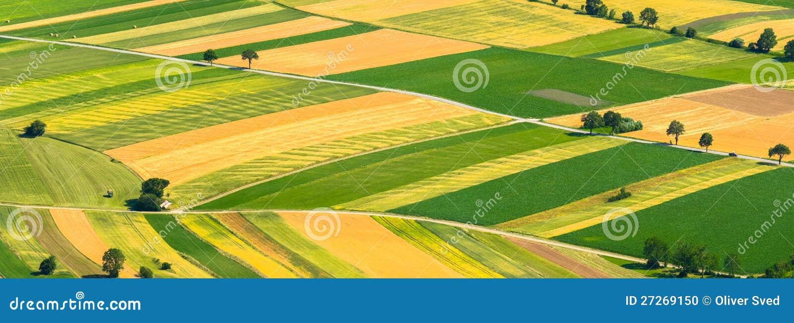 Le vert met en place la vue aérienne