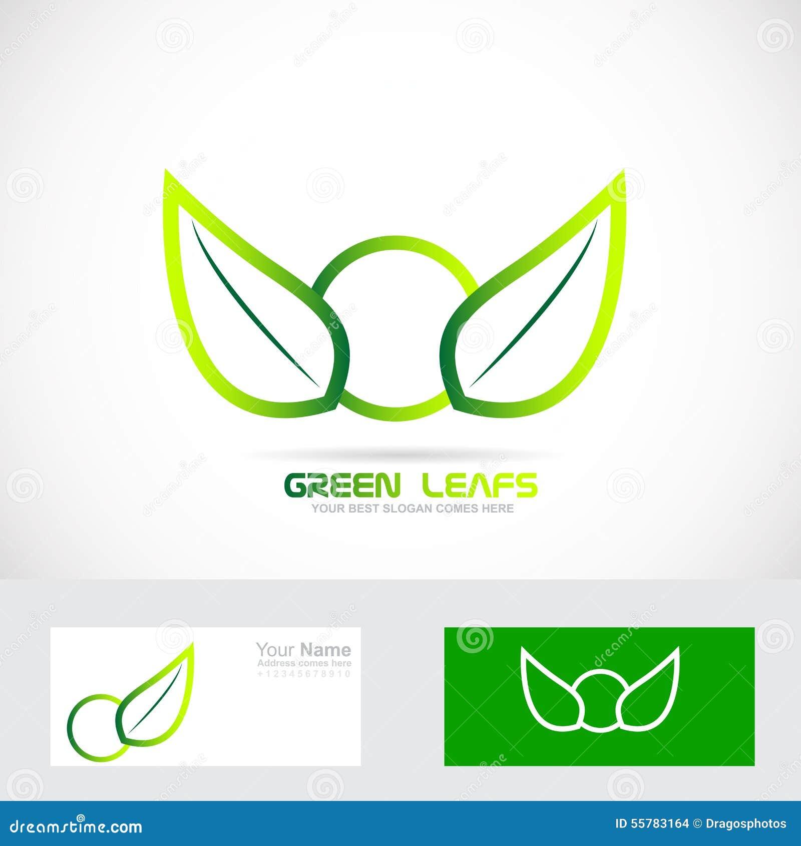 le vert pousse des feuilles insigne organique de bio logo