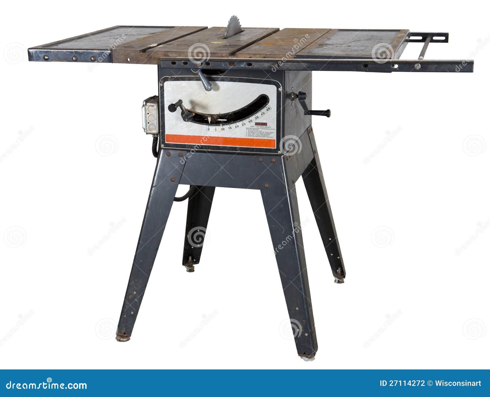 Le vieux Tableau de travail du bois a vu d isolement