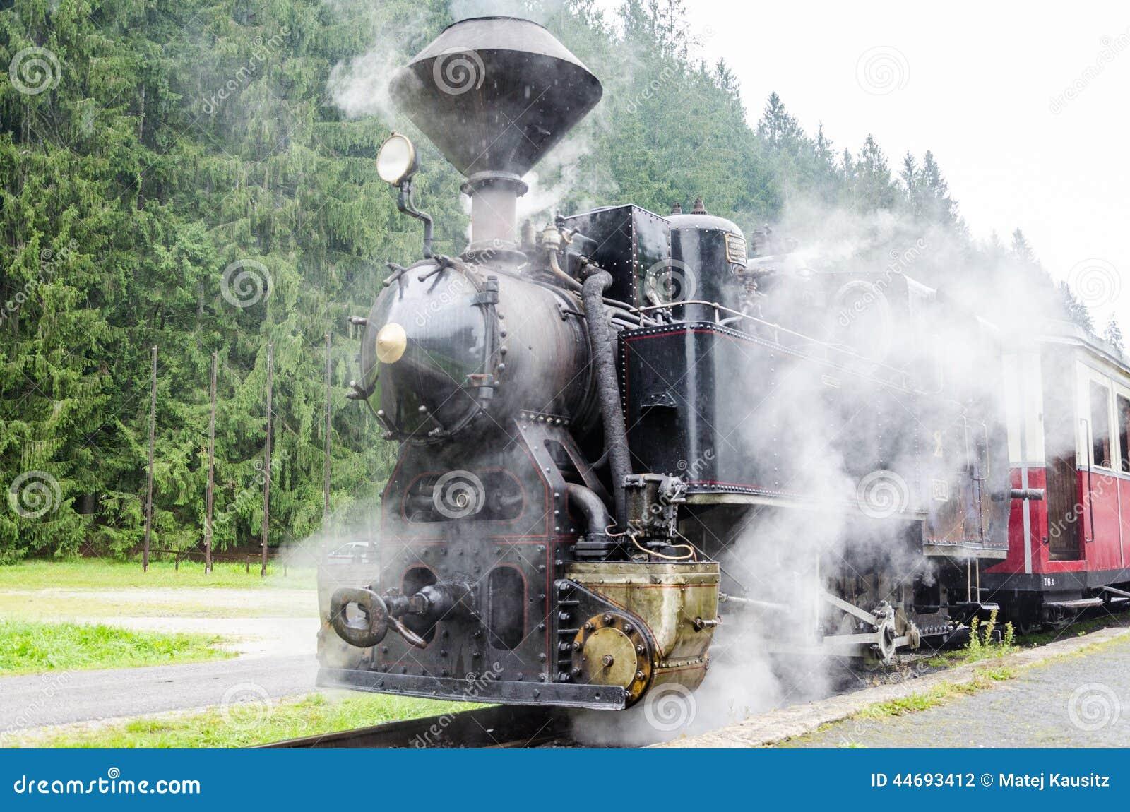 Le vieux train de machine à vapeur