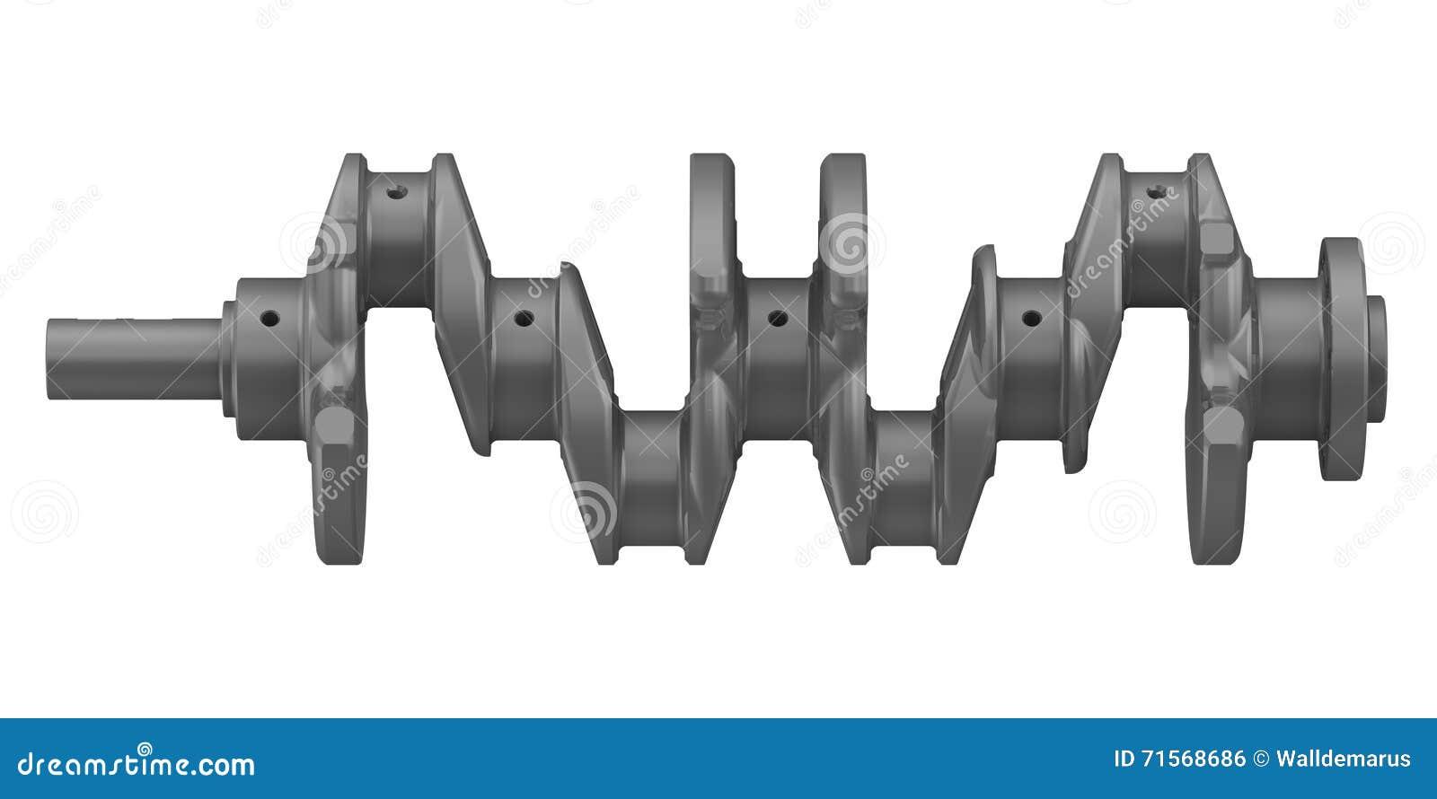 le vilebrequin du moteur combustion interne illustration stock image 71568686. Black Bedroom Furniture Sets. Home Design Ideas
