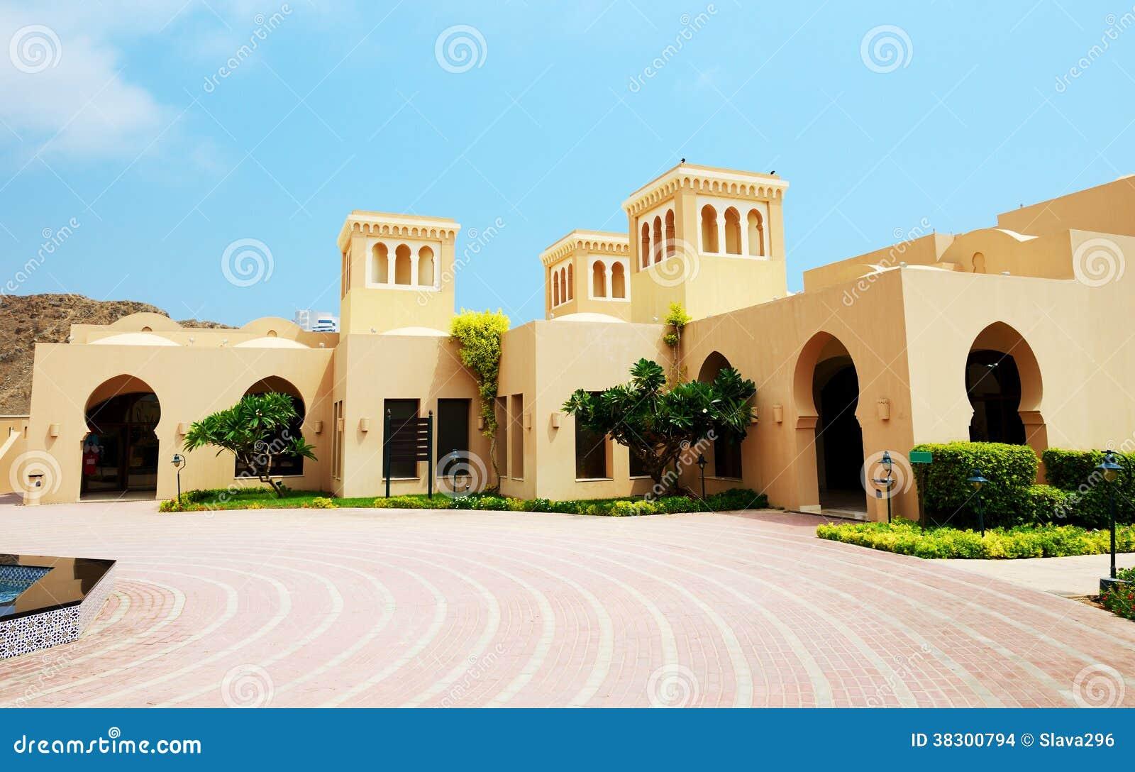 Le ville arabe di stile in albergo di lusso immagini stock for Disegni di ville di lusso