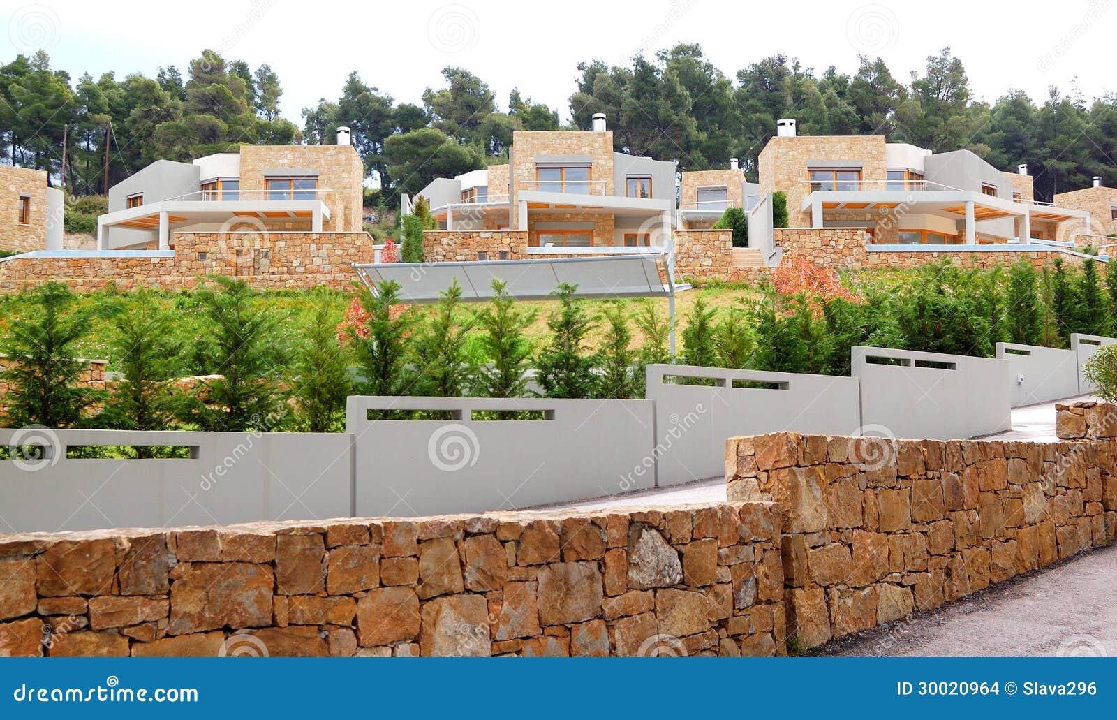 Le ville ed i recinti di lusso fotografia stock immagine - Recinti per giardino ...