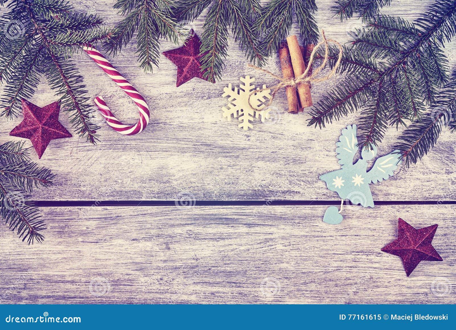 Le vintage a modifié la tonalité le fond de Noël
