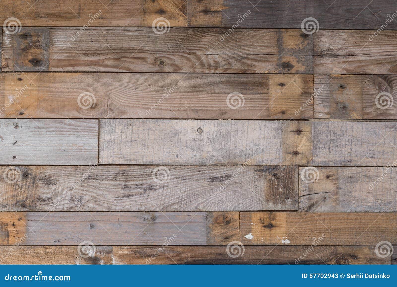 Le vintage a survécu au mur en bois avec le fond rouillé de clous Texture détaillée