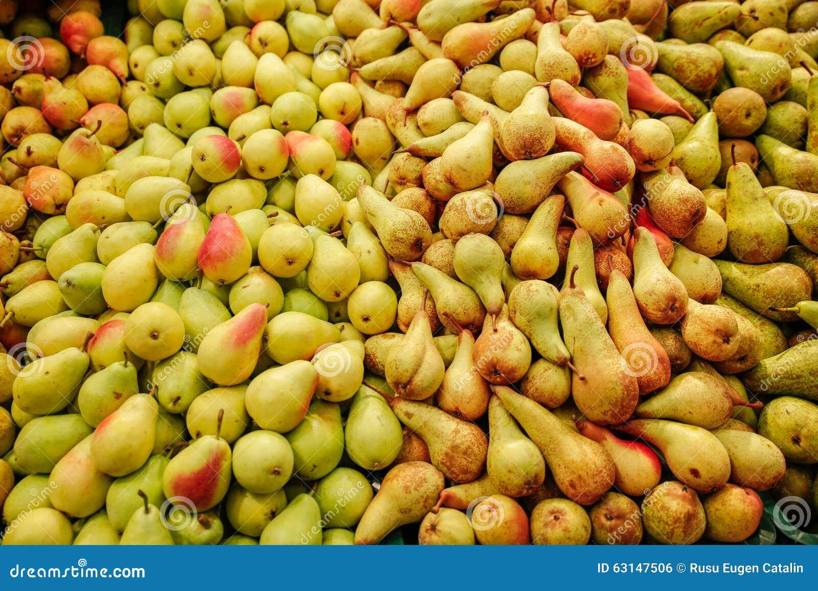 Le volume de poires