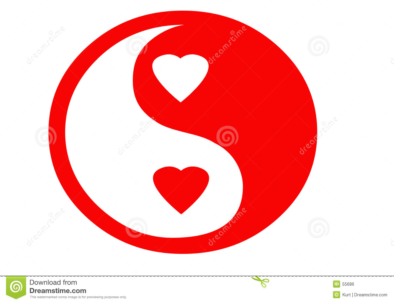 Download Le yin yan de Valentine illustration stock. Illustration du signe - 55686