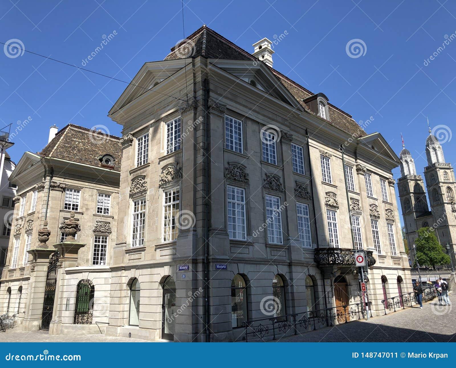 Le zur Meisen - maison de Zunfthaus de guilde dans le quart de Lindenhof ? Zurich