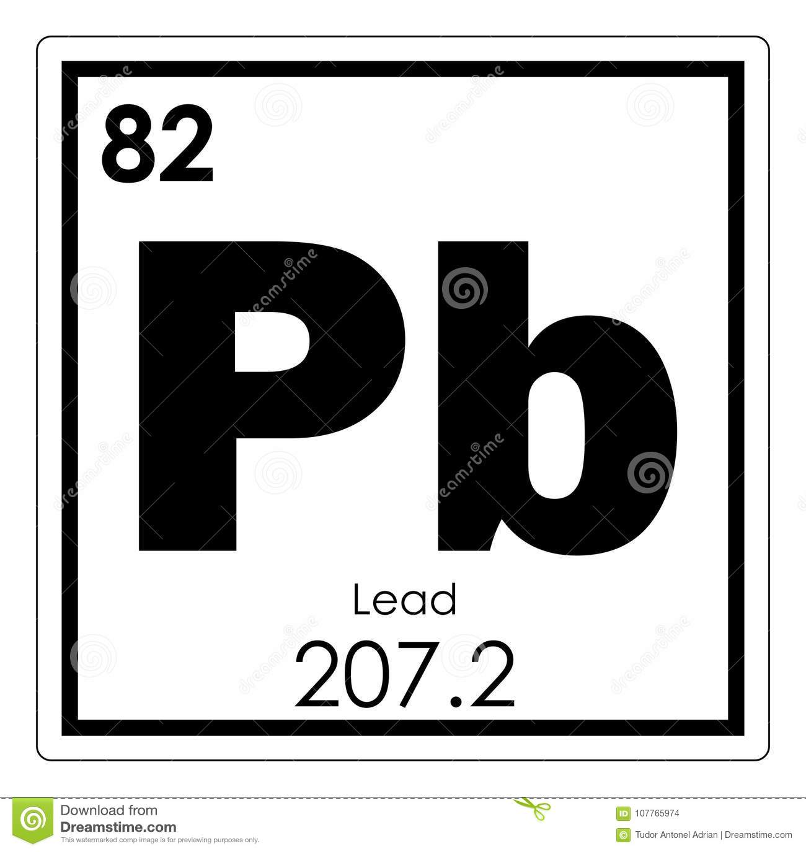 Lead Chemical Element Stock Illustration Illustration Of Atom