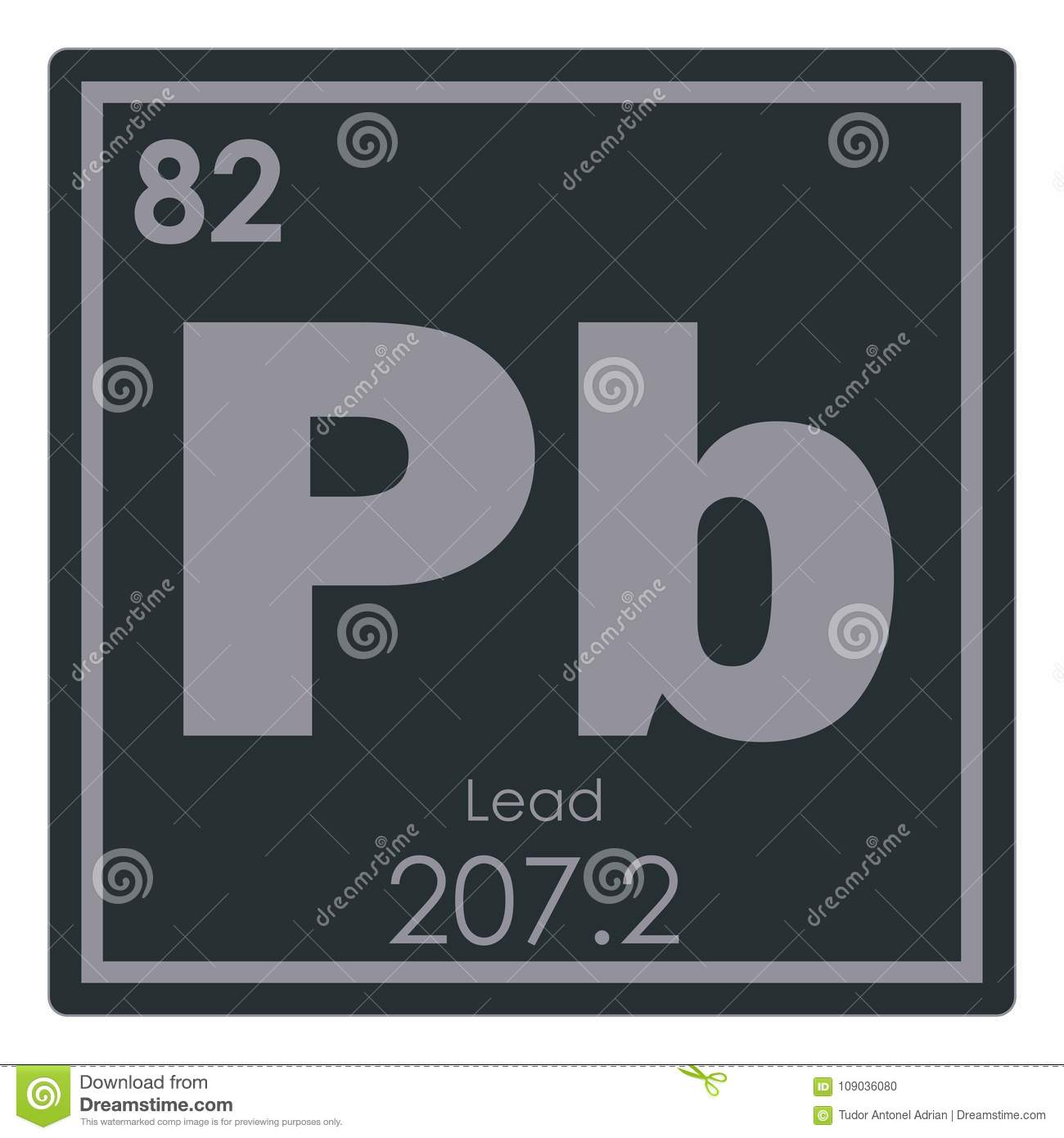 Lead chemical element stock illustration illustration of element lead chemical element periodic table science symbol urtaz Images