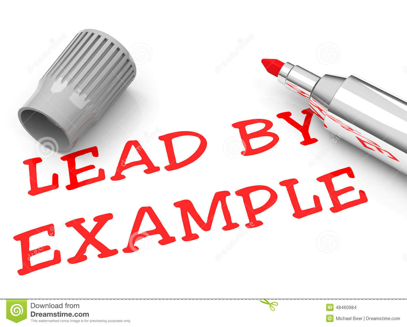 lead by example illustration 48460984 - megapixl
