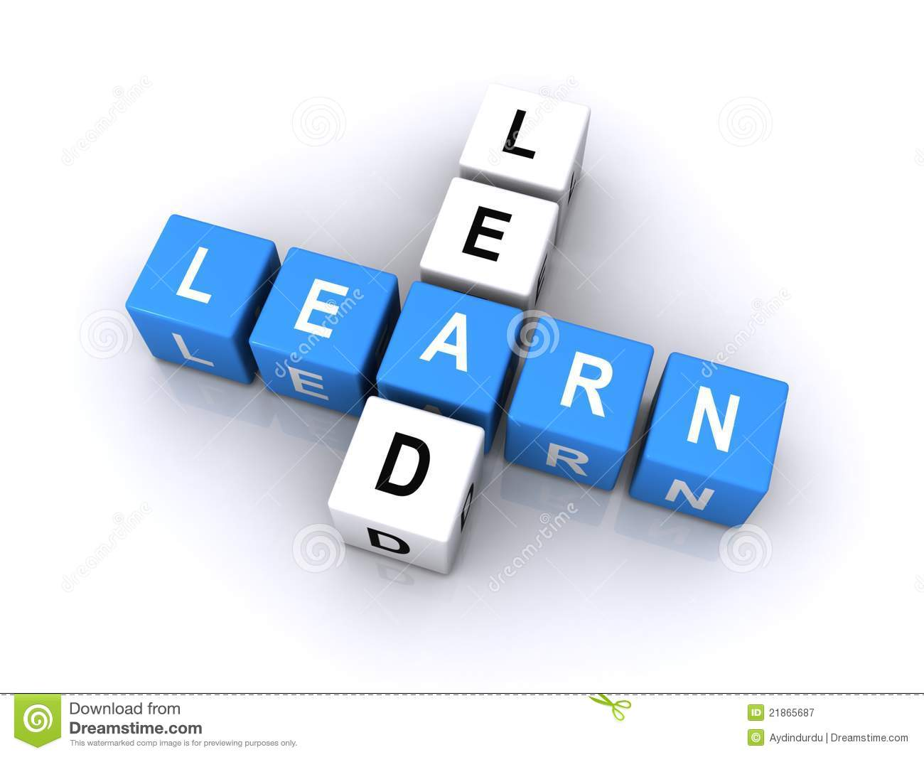Lead And Learn Word Cubes Royalty Free Stock Photography - Image ...
