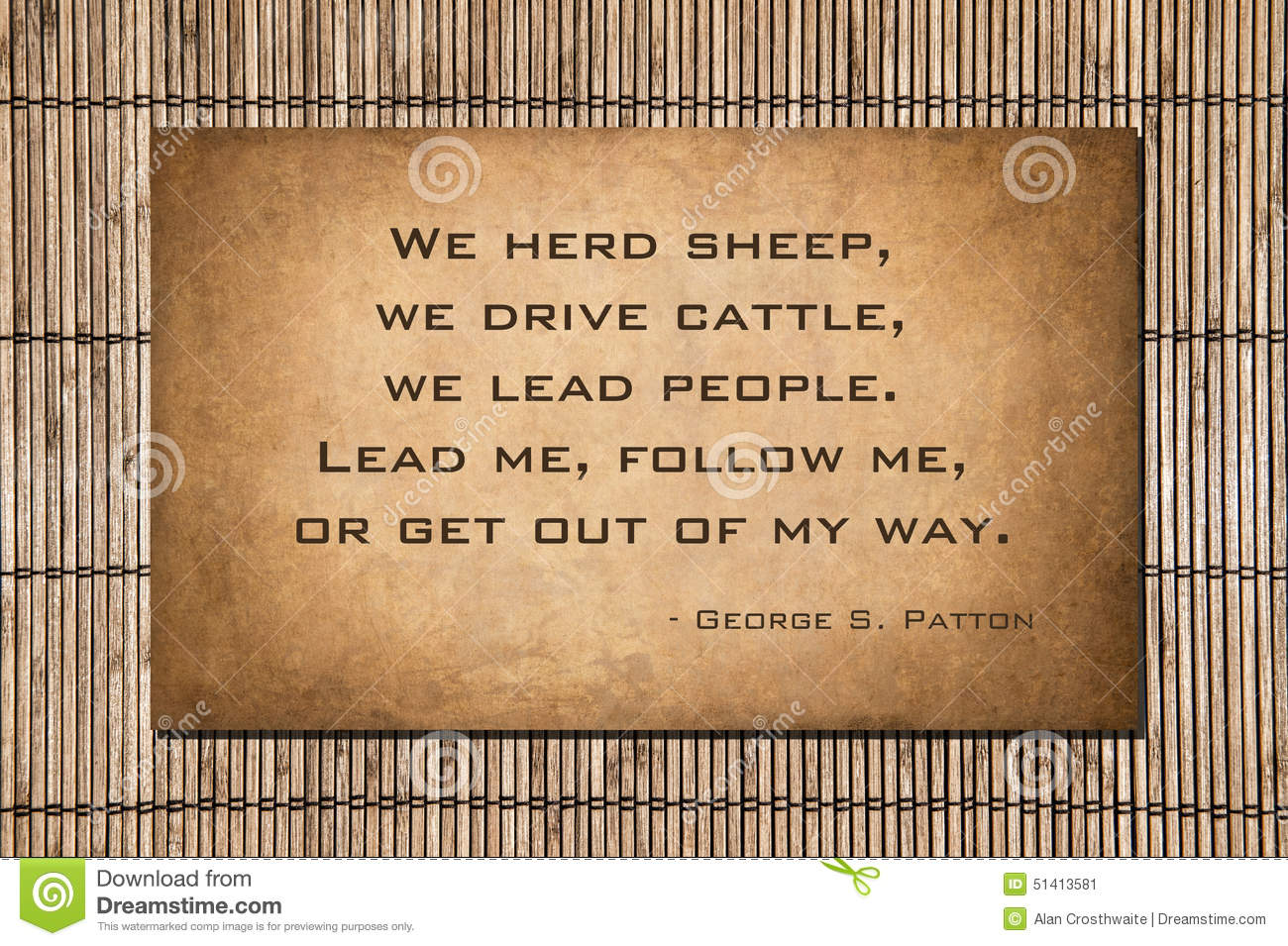 Lead Follow Or Get Out Of The Way Quote: Lead Me, Follow Me, Or Get Out Of My Way Stock Photo