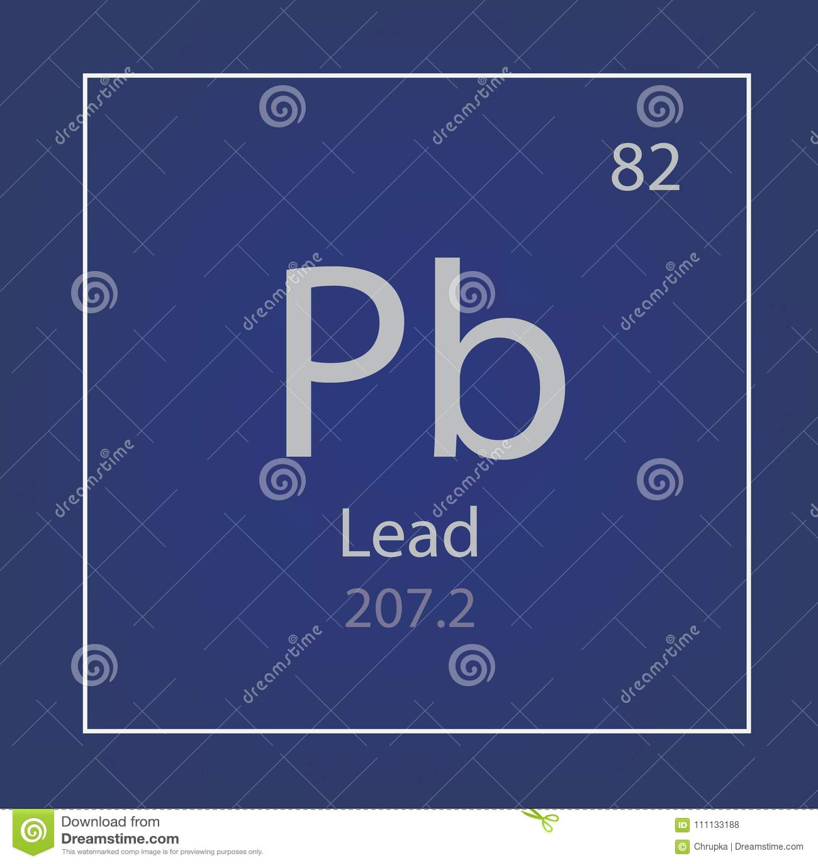 Lead Pb Chemical Element Icon Stock Vector Illustration Of Symbol