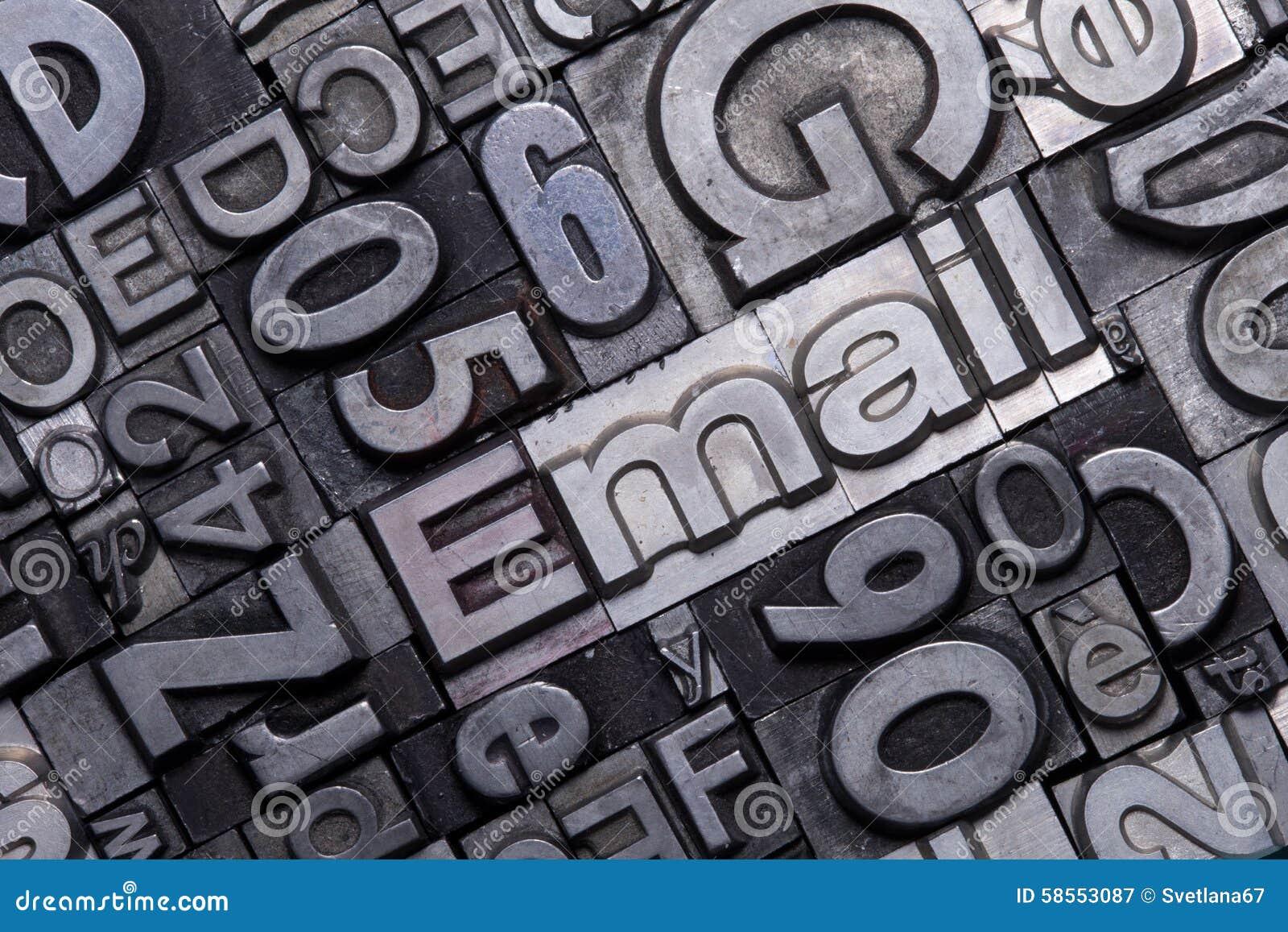 Lead Type Letters Stock Image Image Of Letter Letterpress