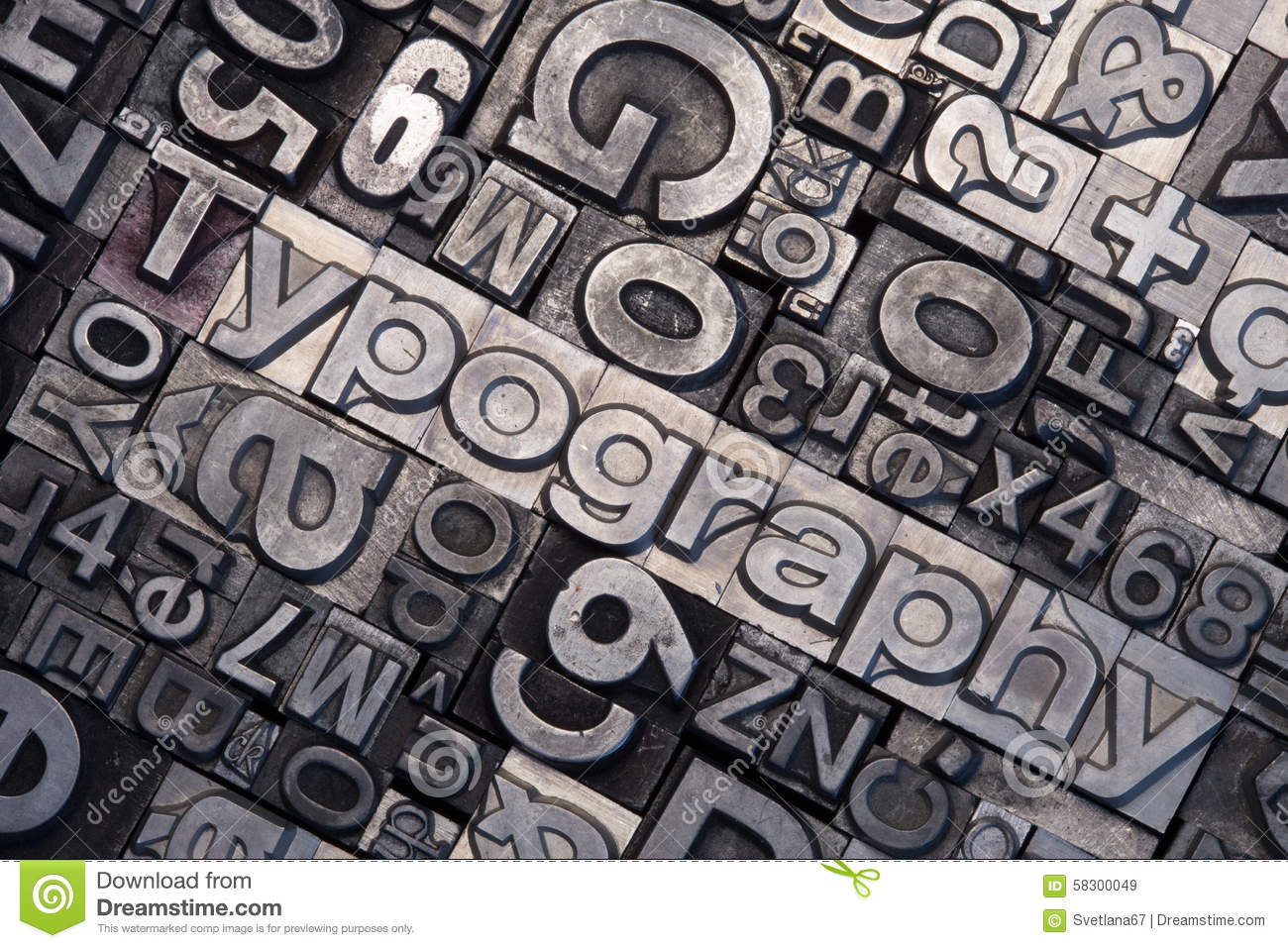 Lead Type Letters Stock Photo Image 58300049