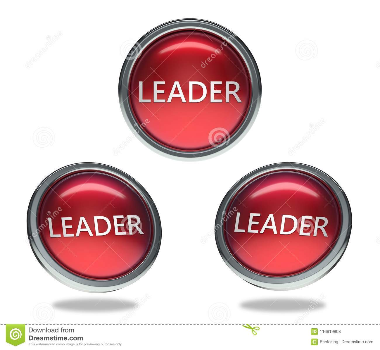 Leader glass button stock illustration. Illustration of isolated ...