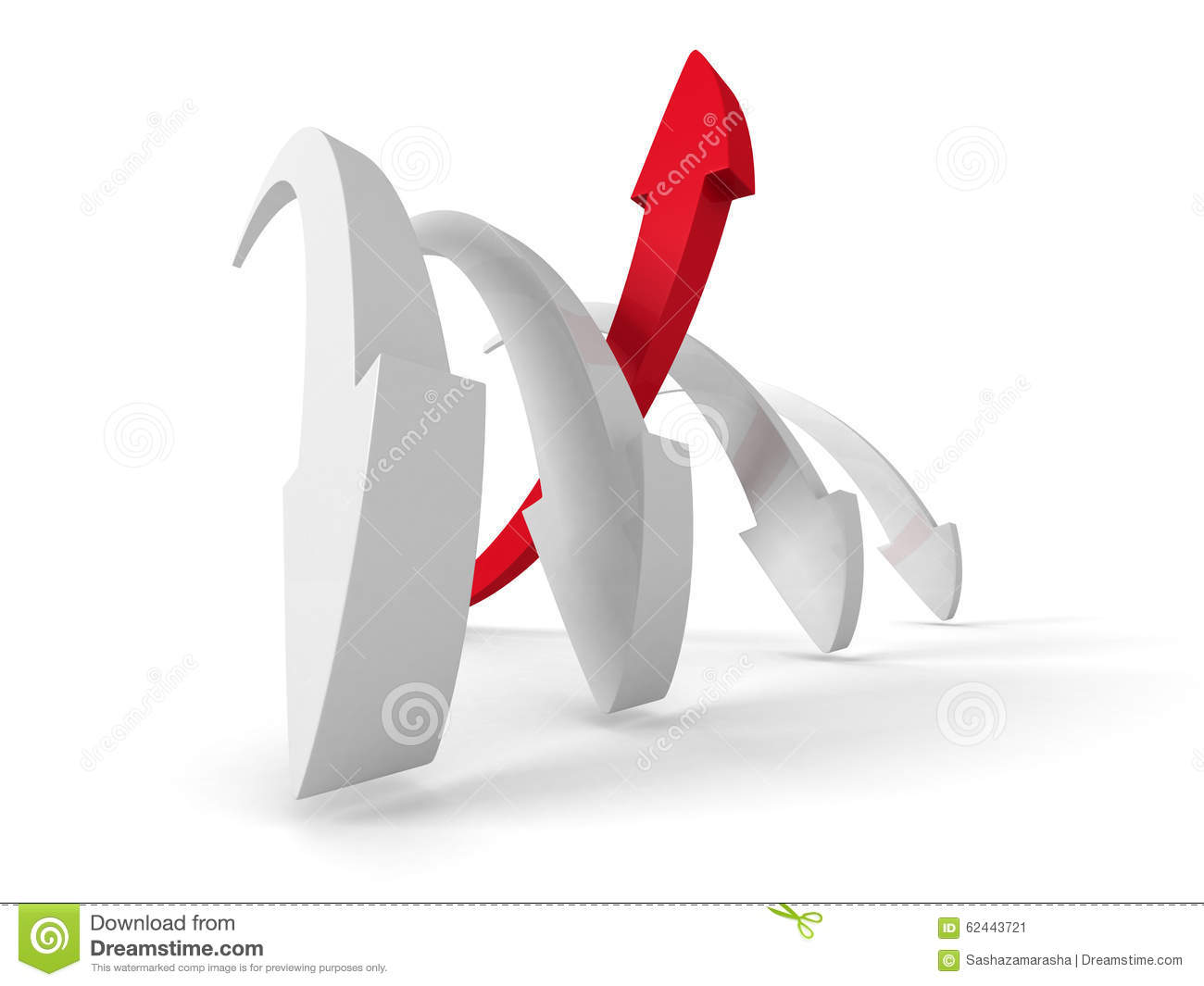 Leader Red Arrow Of Team Group. Business Success Achivement