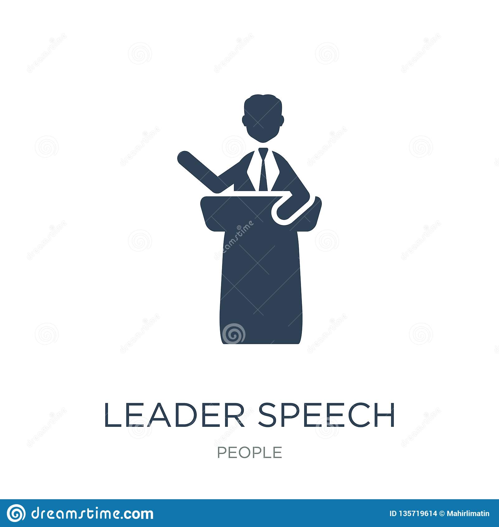 leader speech icon in trendy design style. leader speech icon isolated on white background. leader speech vector icon simple and