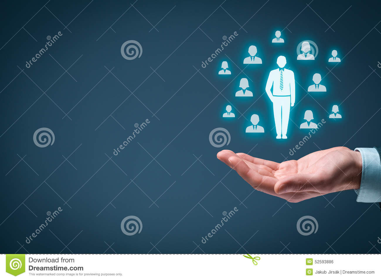 Download Leader stock photo. Image of manager, hand, individuality - 52593886