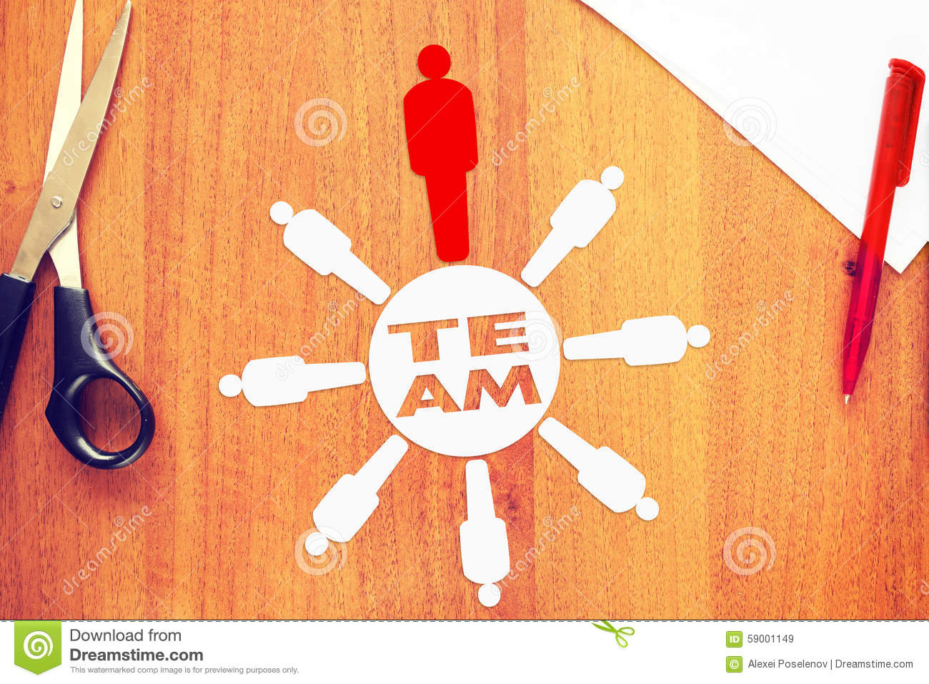 Download Leader Of Strong Unified Team Stock Image - Image of oneness, leading: 59001149