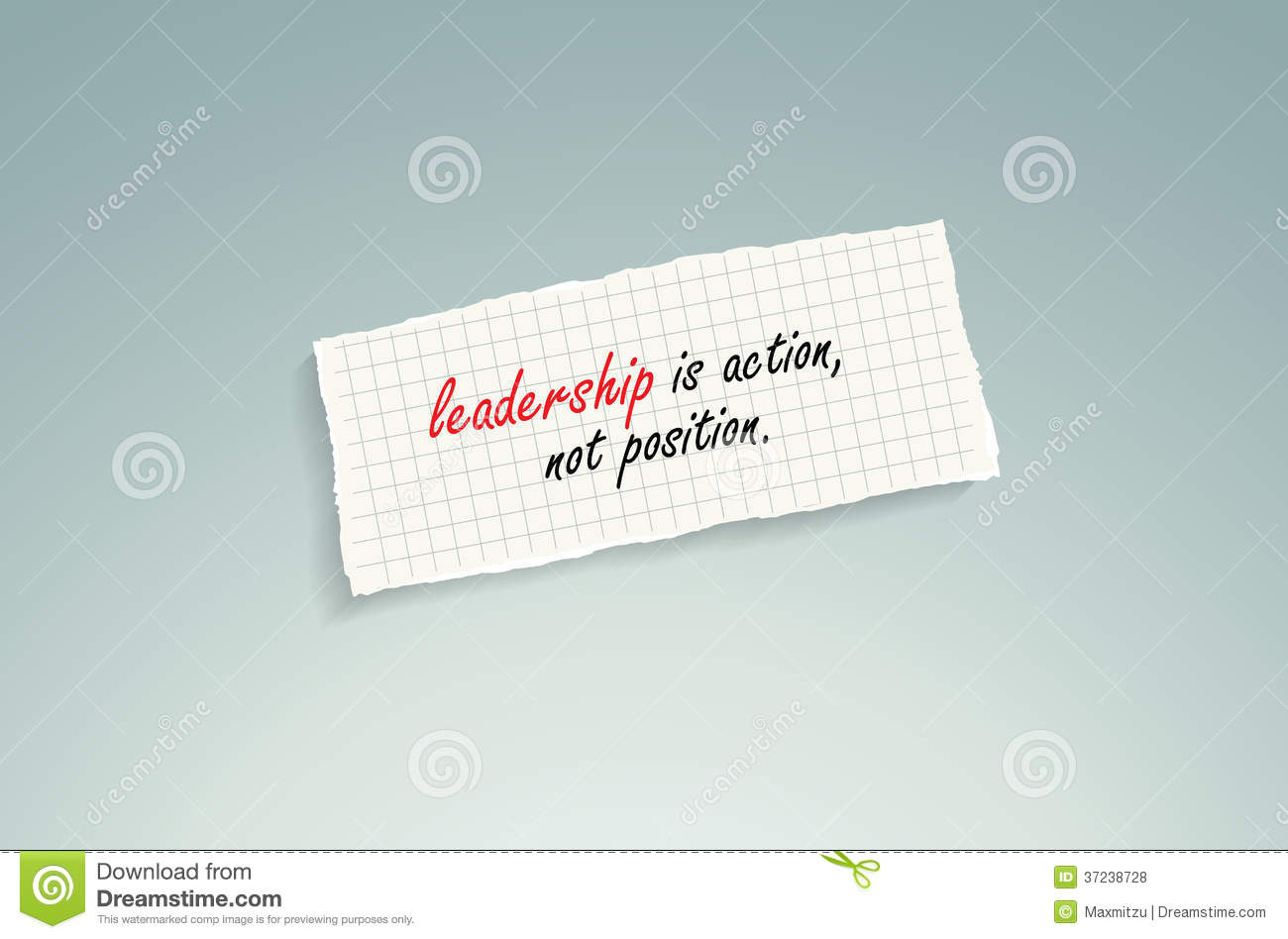 leadership is action not position