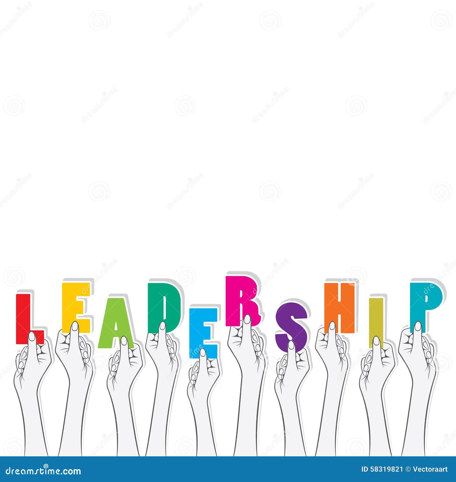 Leadership Banner Concept Design Stock Vector Illustration Of Concept Letter 58319821