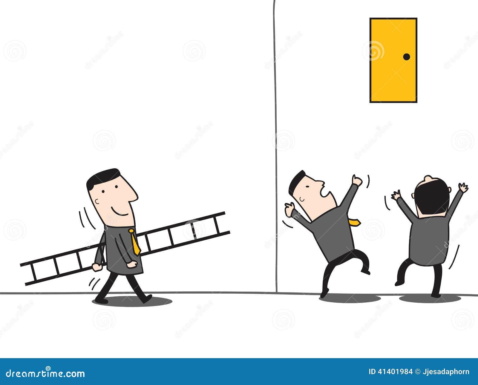 Leadership Bring Ladder Vector Illustration