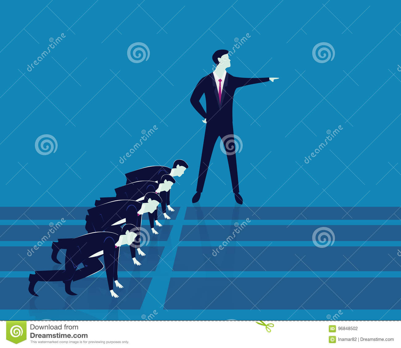 Leadership And Business Competition Concept Stock Vector
