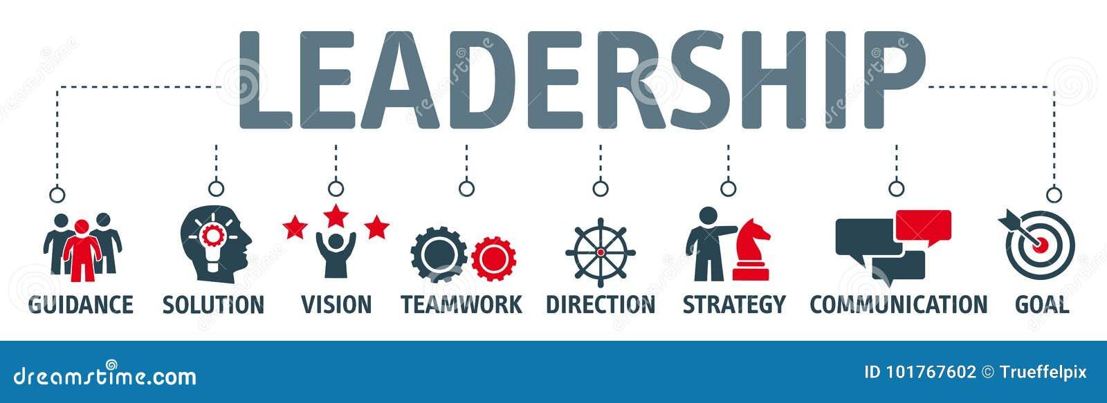 Banner Leadership Concept Stock Illustration Illustration Of Instructor 101767602