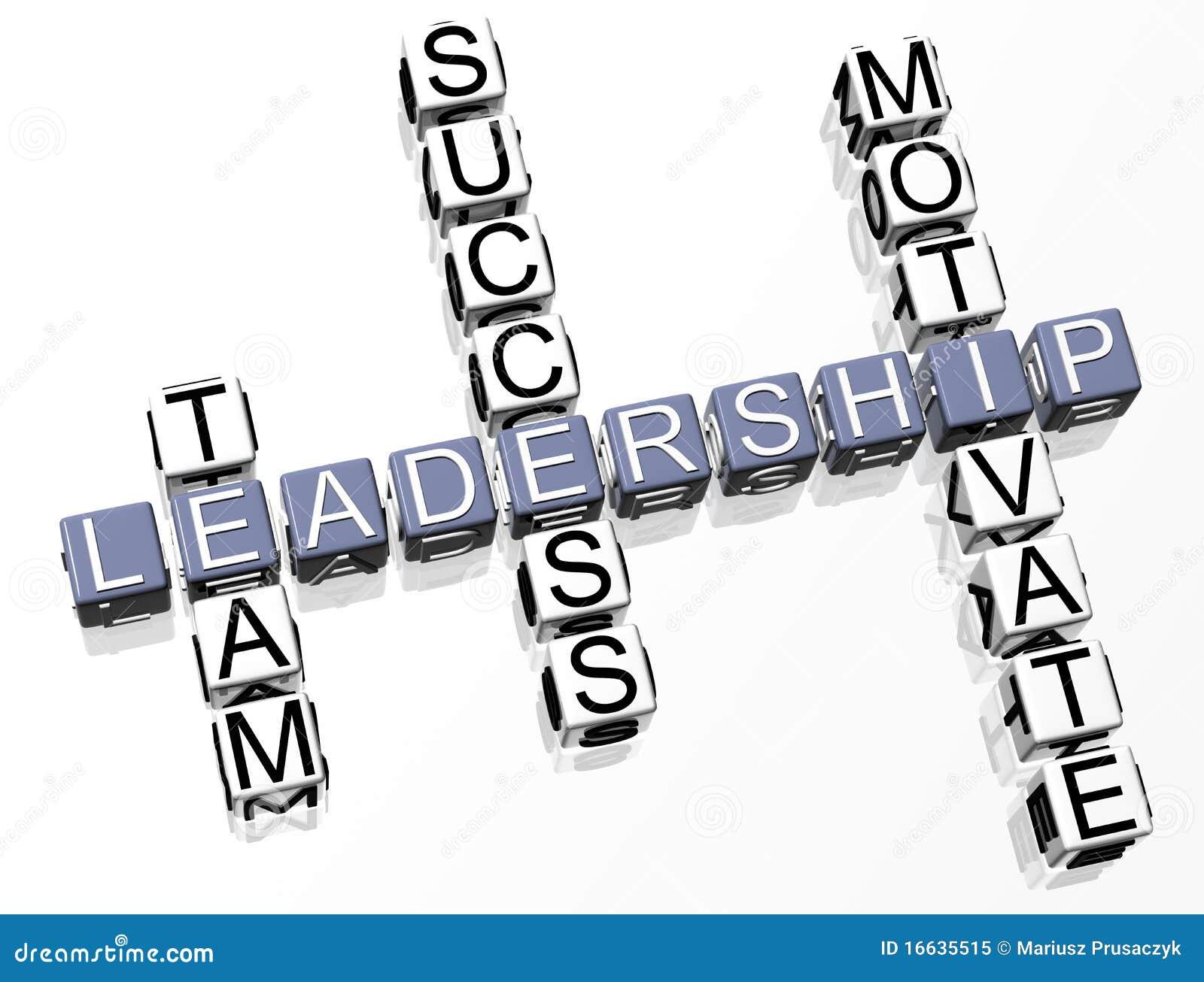 Leadership Crossword Royalty Free Stock Photo Image