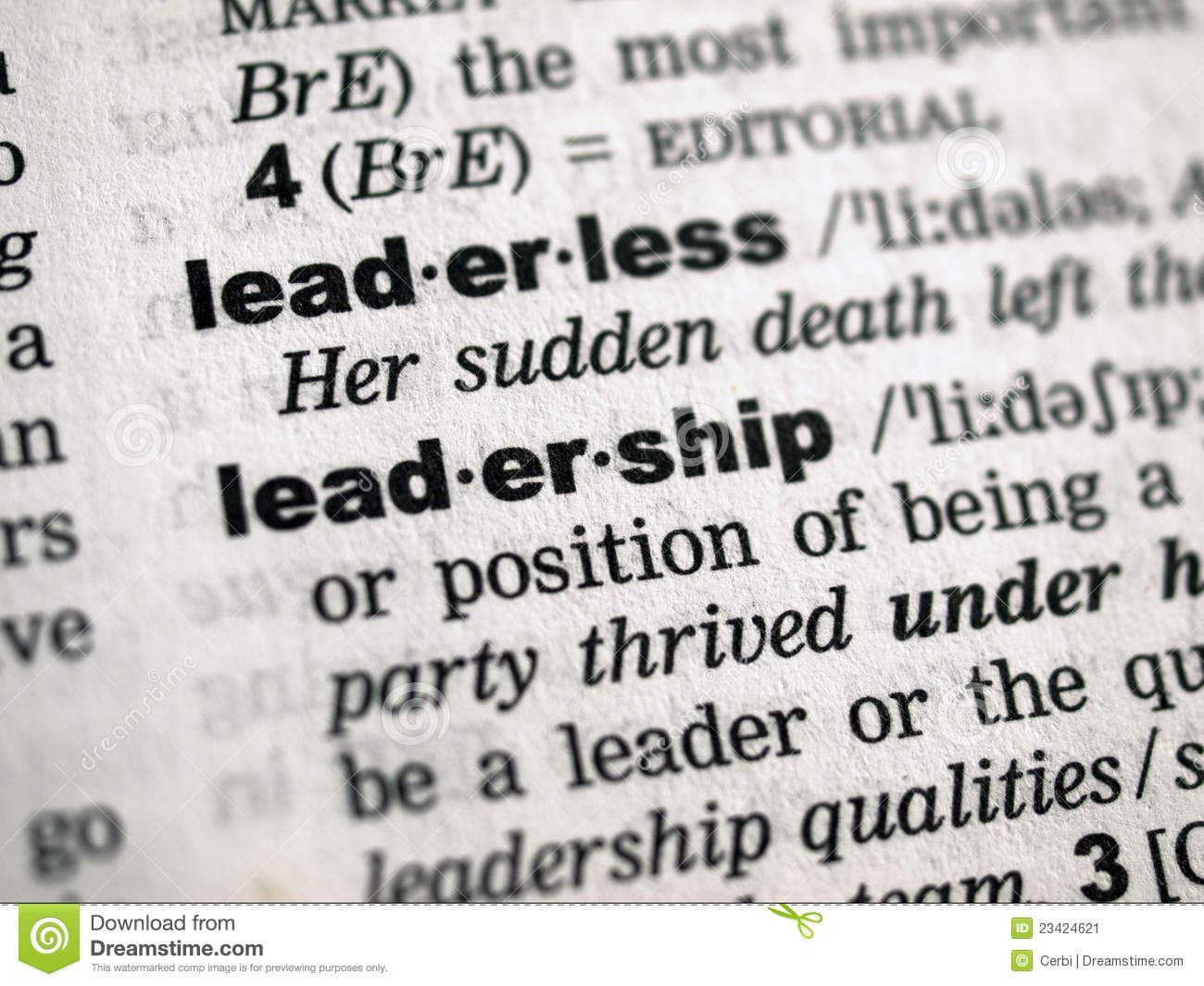definition of being a leader