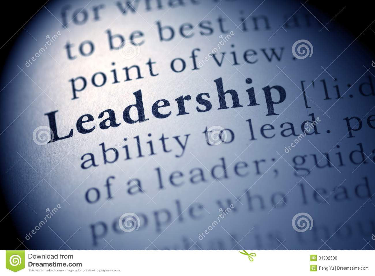 Leadership Stock Photo Image Of Blue Word Closeup 31902508