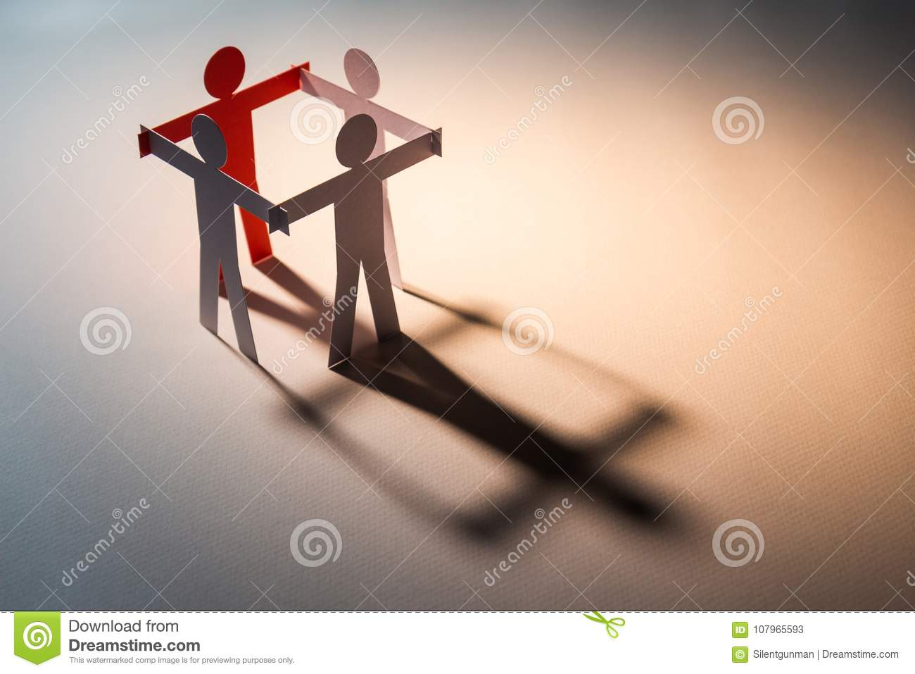 Download Leadership in four team stock image. Image of help, chain - 107965593