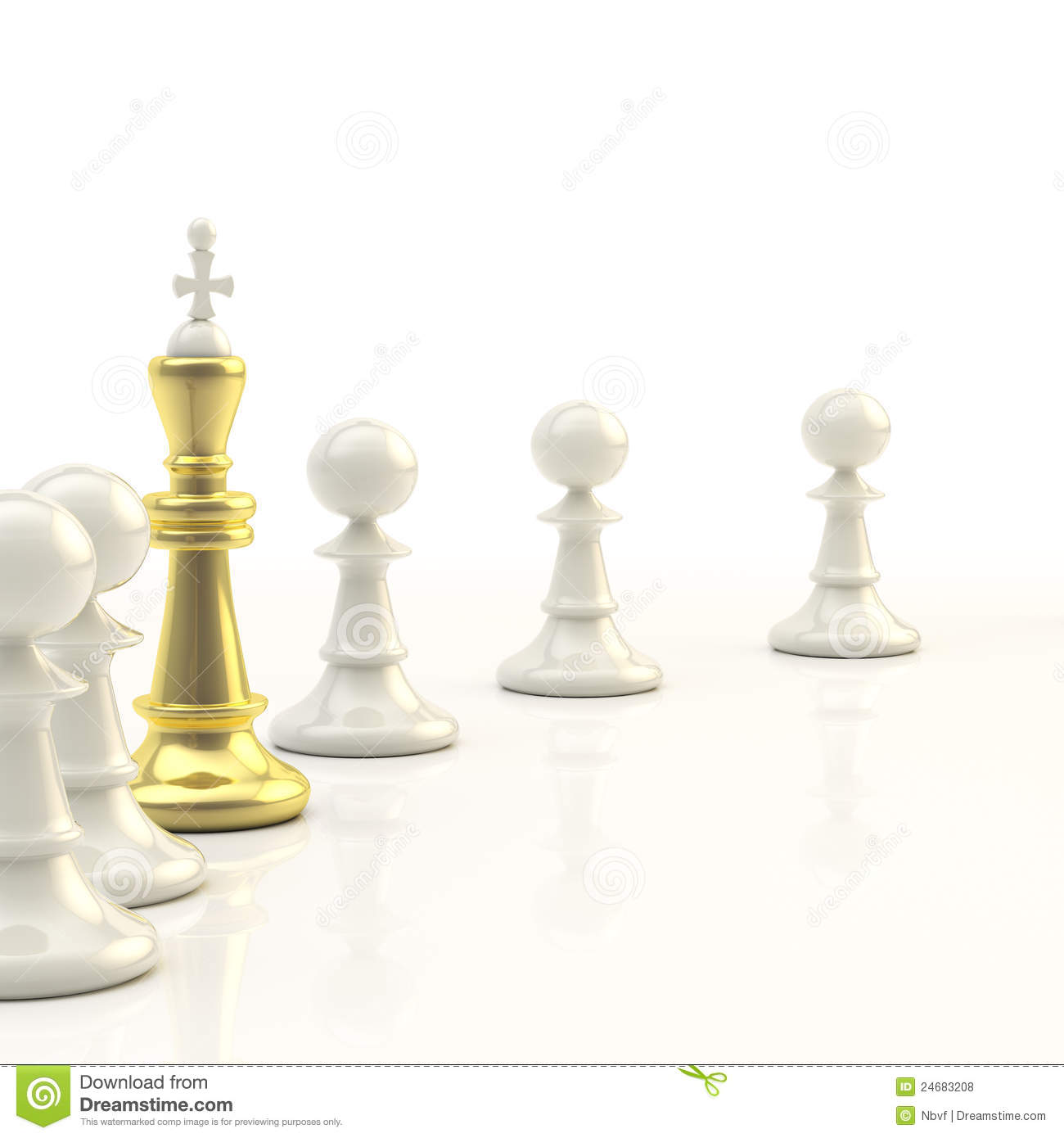 Leadership Light Chess Background Royalty Free Stock