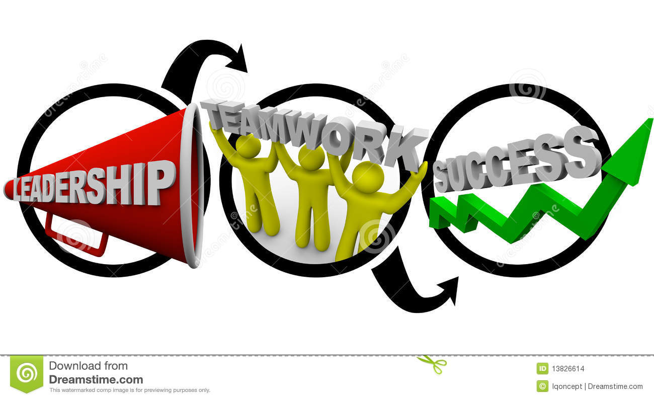 Leadership Plus Teamwork Equals Success Stock Images - Image: 13826614