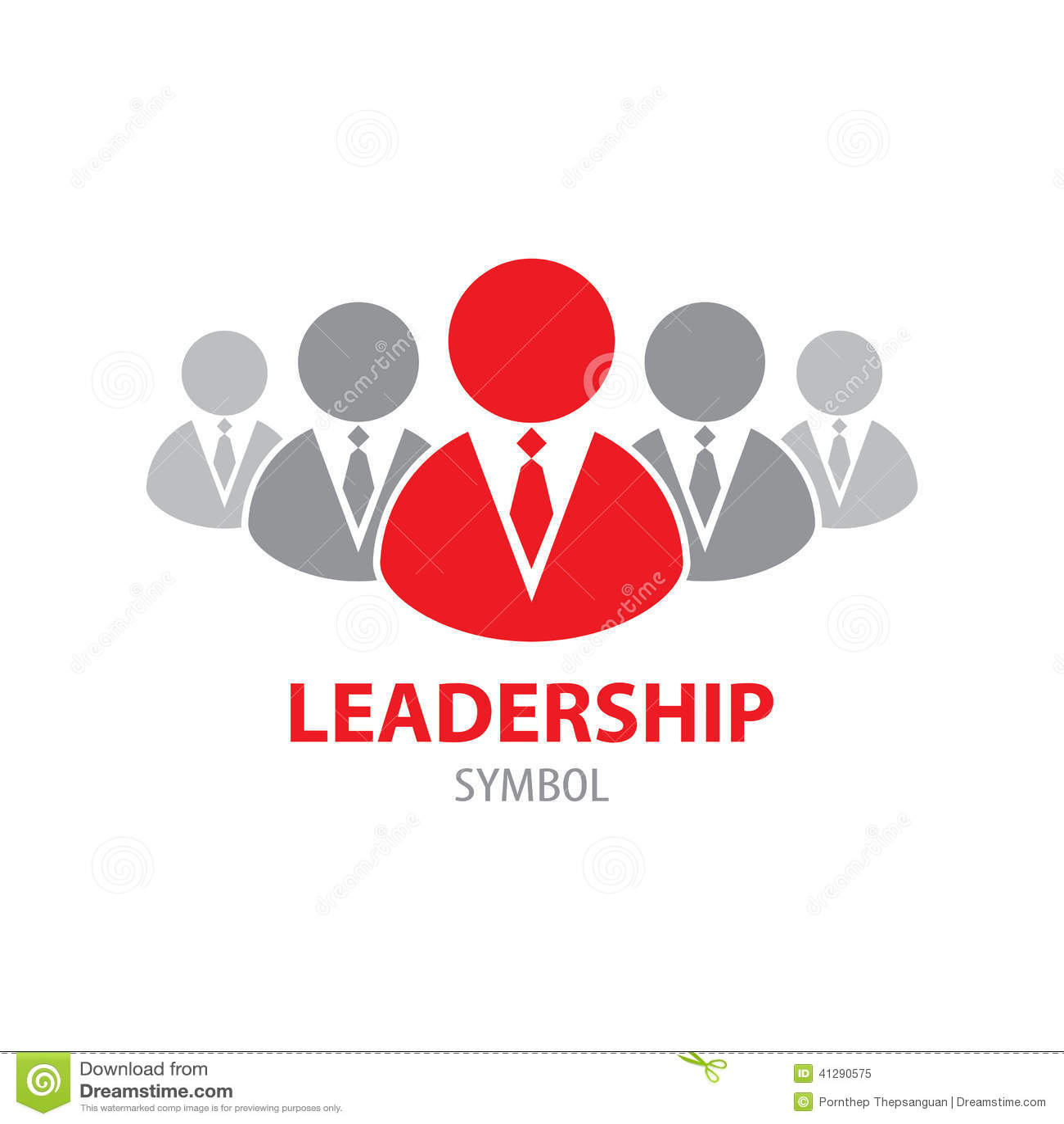 Leadership Symbol Icon Stock Vector Illustration Of