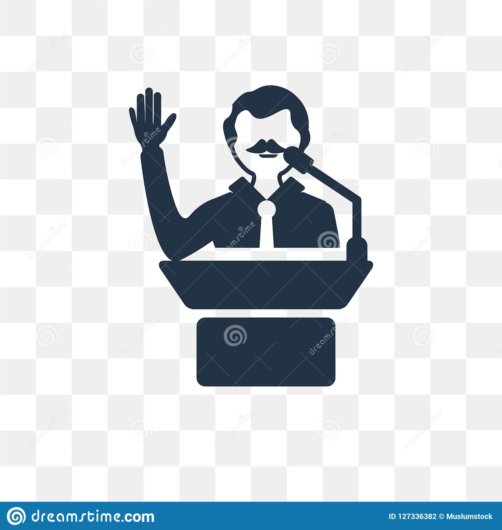 Leadership Vector Icon Isolated On Transparent Background Leadership Transparency Concept Can Be Used Web And Mobile Stock Vector Illustration Of Speech Transparent 127336382