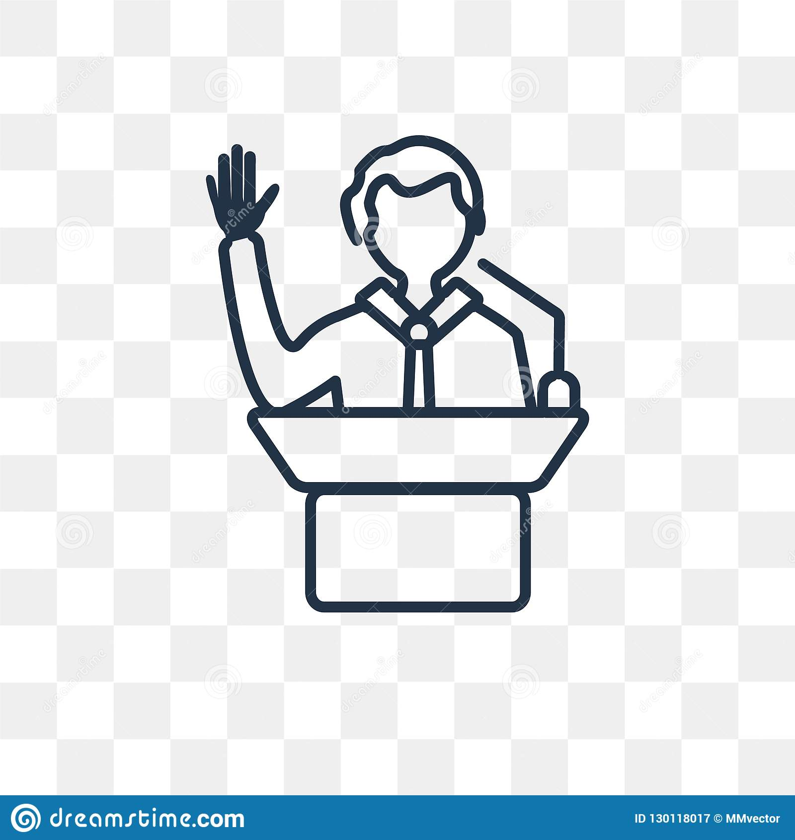 Leadership Vector Icon Isolated On Transparent Background Linear Leadership Transparency Concept Can Be Used Web And Mobile Stock Vector Illustration Of Leadership Person 130118017