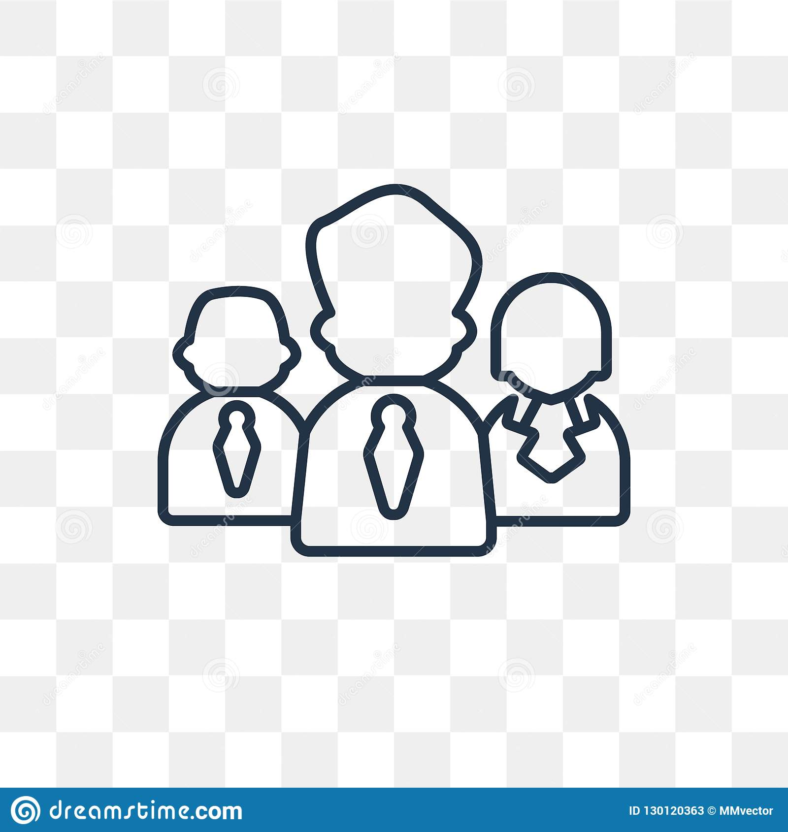 Leadership Vector Icon Isolated On Transparent Background Linear Leadership Transparency Concept Can Be Used Web And Mobile Stock Vector Illustration Of Teamwork Friendship 130120363