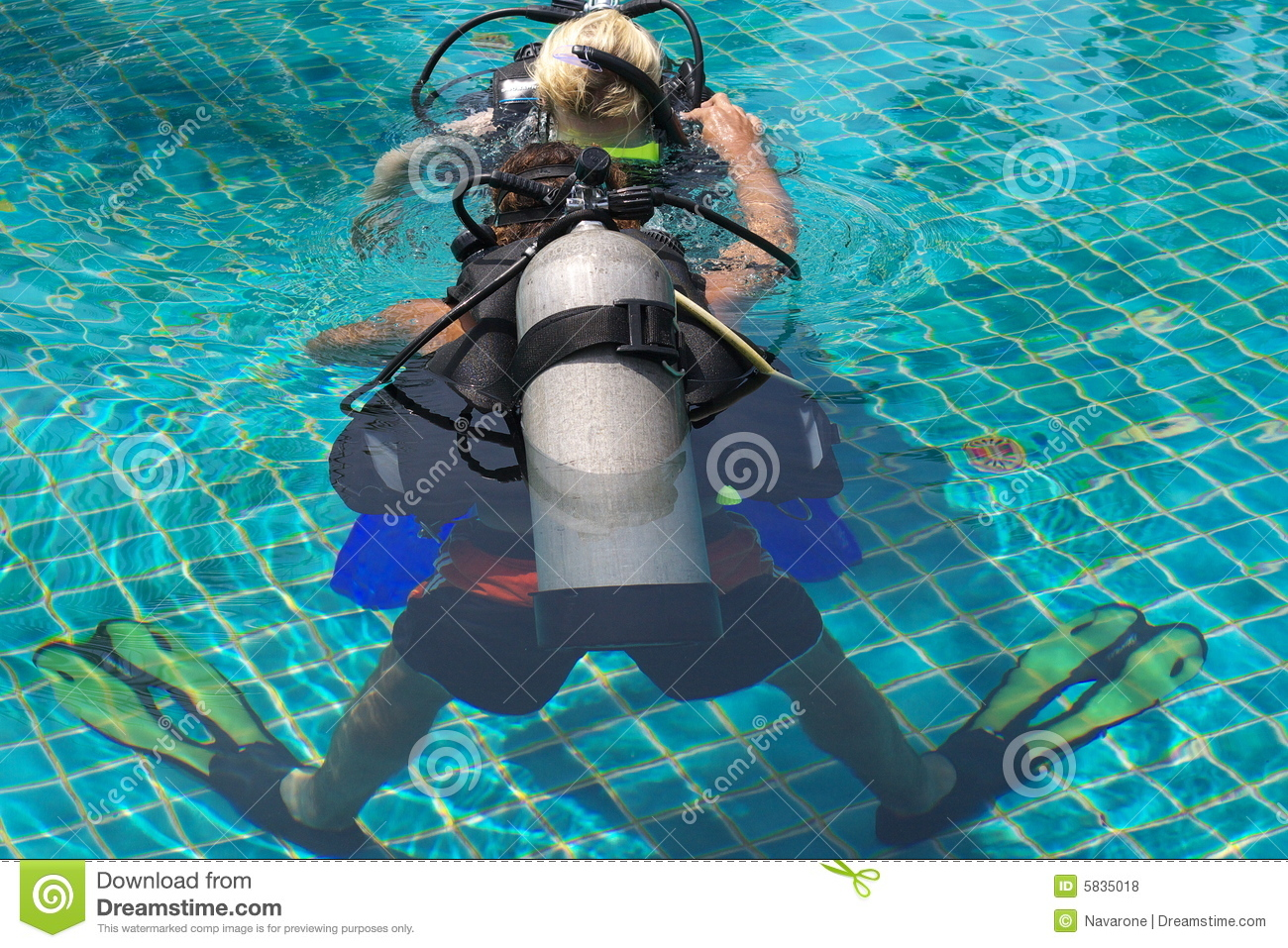 Leading To Scuba Dive Royalty Free Stock Photos Image 5835018